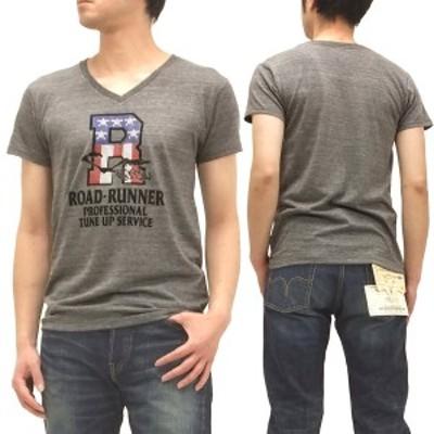 ロードランナー Tシャツ チェスウィック 東洋エンタープライズ スタッズ メンズ Vネック 半袖tee ch76243 杢グレー 新品