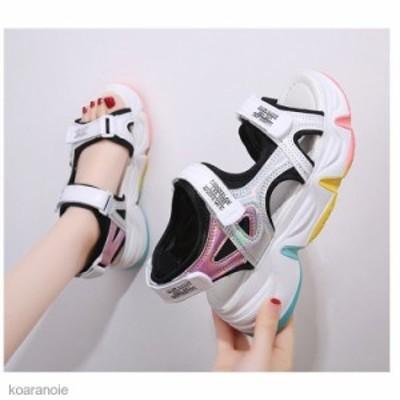 スポーツサンダル 厚底 レディース サンダル スポサン スニーカーサンダル 夏 歩きやすい 通気性 韓国風 カジュアル 歩きやすい 新作