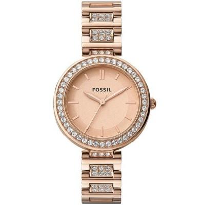 フォッシル 腕時計 アクセサリー レディース Women's Karli Three Hand Rose Gold Stainless Steel Watch 34mm Rose Gold