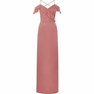 オアシス Oasis レディース ワンピース マキシ丈 ワンピース・ドレス Ruffle Satin Maxi Dress Pale Pink
