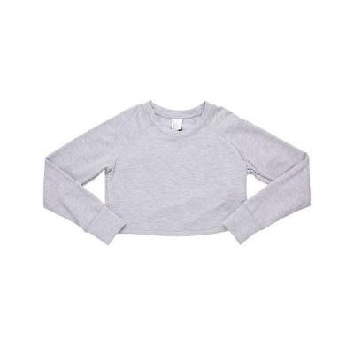 Flo Active フローアクティブ 女の子用 ファッション 子供服 Tシャツ Hannah Raglan Track Top (Little Kids/Big Kids) - Grey Marl