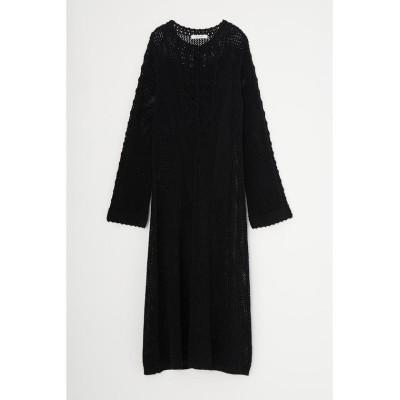 【マウジー】 BUTTON UP CROCHET ドレス レディース ブラック FREE MOUSSY
