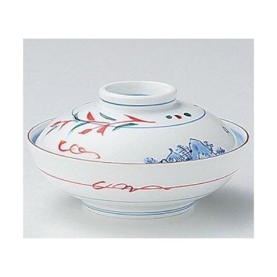碗 赤絵京山水蓋向 身の直径(最大径):130・蓋付の高さ:77/業務用/新品
