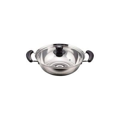 キッチンツール パール金属 NEWだんらん ステンレス製ガラス蓋付よせ鍋 26cm
