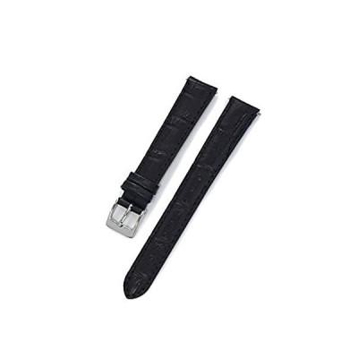 【新品・送料無料】CASSIS[カシス] カーフ 型押し 時計ベルト 裏面防水素材 AVALLON アバロン 14mm ブラック 交換用工具付き X1022238019