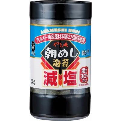 やま磯 減塩朝めし海苔味カップ 8切32枚 まとめ買い(×10)