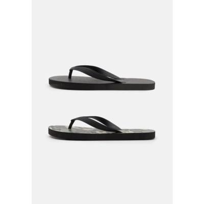 コットンオン メンズ 靴 シューズ 2 PACK RECYCLED - T-bar sandals - army/black