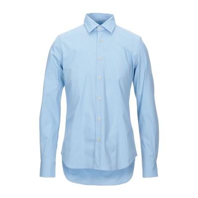 LIU •JO MAN シャツ スカイブルー 40 コットン 97% / ポリウレタン 3% シャツ