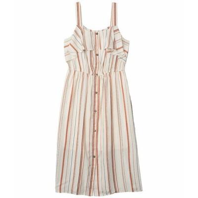ボベー ワンピース トップス レディース Button-Down Ruffle Dress Sand Verigated Stripe