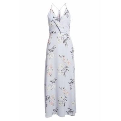 Lush ラッシュ ファッション ドレス Lush NEW Purple Womens Size Large L Surplice Floral Print Maxi Dress