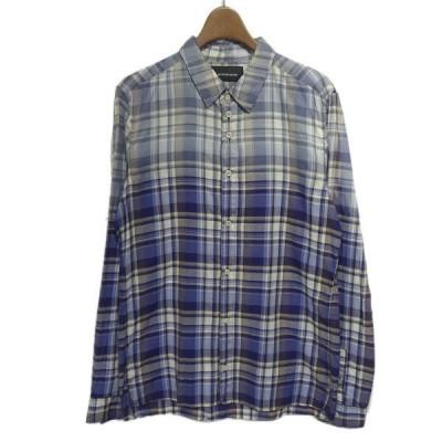 DIET BUTCHER SLIM SKIN 2013SS チェックシャツ ブルー サイズ:2 (栄店) 200407