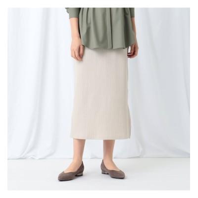 【インディヴィ/INDIVI】 [L]【WEB限定/ハンドウォッシュ】プリーツリブジャージロングスカート
