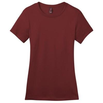 レディース 衣類 トップス District Made Women's Perfect Weight Crewneck T-Shirt_Sangria_X-Small Tシャツ
