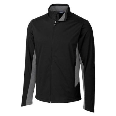 カッターアンドバック メンズ ジャケット・ブルゾン アウター Navigate Softshell Long-Sleeve Full-Zip Jacket