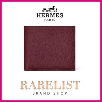 エルメス HERMES 財布 小財布 二つ折り 2つ折り ボルドー ヴォーエヴァーカラー レザー シンプル