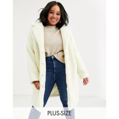 グラマラス レディース コート アウター Glamorous Curve teddy coat