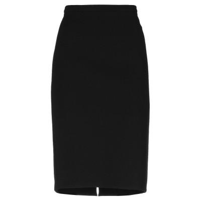 CRISTINAEFFE ひざ丈スカート ブラック 42 ナイロン 96% / ポリウレタン 4% ひざ丈スカート