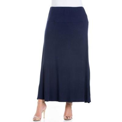 24セブンコンフォート スカート ボトムス レディース Women's Plus Size Maxi Skirt Navy