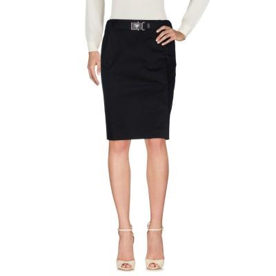 PRADA LINEA ROSSA ひざ丈スカート ブラック 44 コットン 98% / ポリウレタン 2% ひざ丈スカート