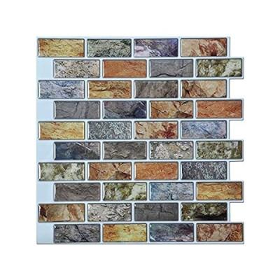 "Art3d 10-Piece Peel & Stick Kitchen/Bathroom Backsplash Sticker, 12"" X 12"""