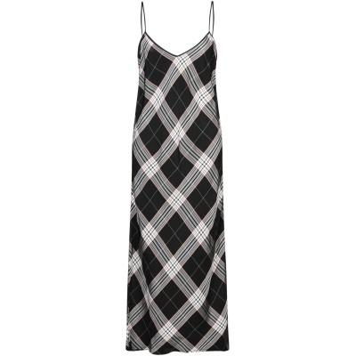 テッサ .TESSA ロングワンピース&ドレス ブラック 40 レーヨン 100% ロングワンピース&ドレス