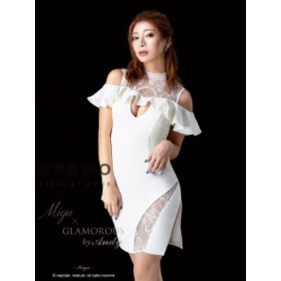 GLAMOROUS ドレス GMS-M457 ワンピース ミニドレス Andy グラマラスドレス クラブ キャバ ドレス パーティードレス Miyu × GLAMOROUS by