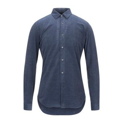 VANGHER N.7 シャツ ダークブルー 39 コットン 100% シャツ
