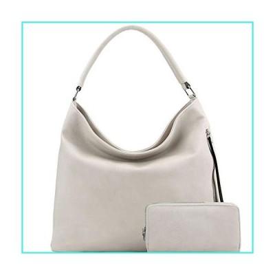 【新品】Side Zipper Pocket 2-Way PU Leather Hobo Bag and Wallet SET(並行輸入品)