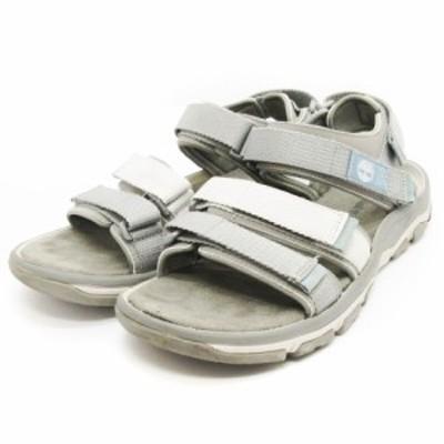 【中古】ティンバーランド Timberland ロズリンデールバックストラップ サンダル A1ZSQ グレー系 灰色系 30 靴
