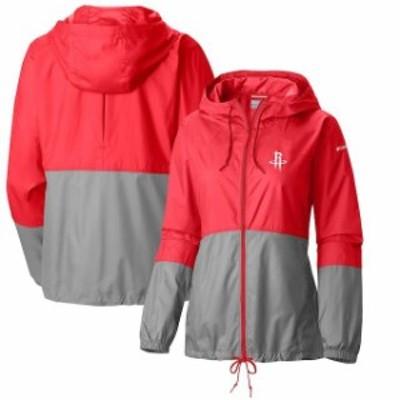 Columbia コロンビア スポーツ用品  Columbia Houston Rockets Womens Red Flash Forward Windbreaker Full-Zip Jacket