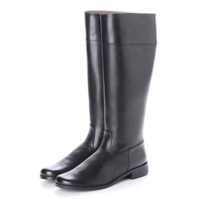 【21cm】特別価格!20.5〜21.5cm(小さいサイズ)婦人牛革ロングブーツ税込8,000円均一!ブラック