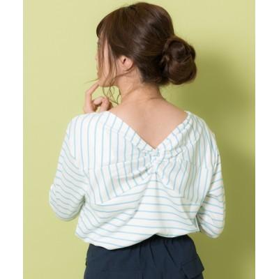 Rewde / ★前後2WAY★ボーダーカットソー(9R15-03047) WOMEN トップス > Tシャツ/カットソー