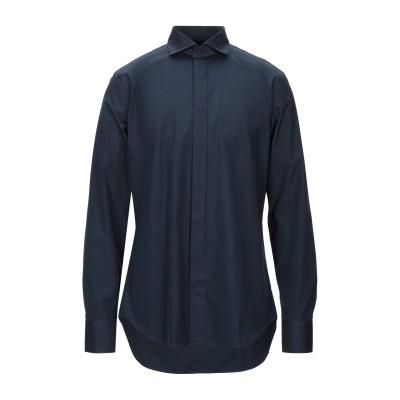 ROYAL ROW シャツ ダークブルー 16 コットン 100% シャツ