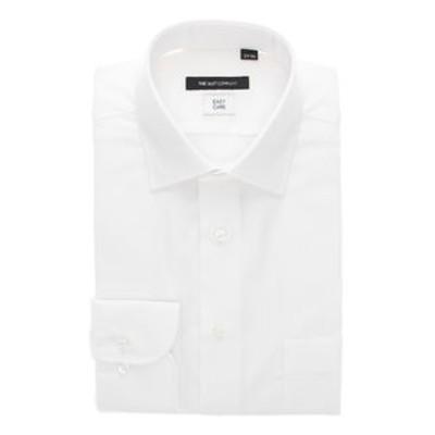 【再生繊維】ワイドカラードレスシャツ シャドーストライプ 〔EC・BASIC〕