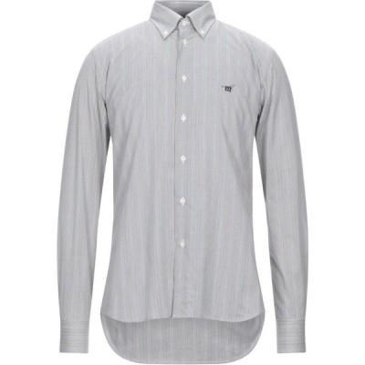 ヘンリーコットンズ HENRY COTTON'S メンズ シャツ トップス striped shirt Military green