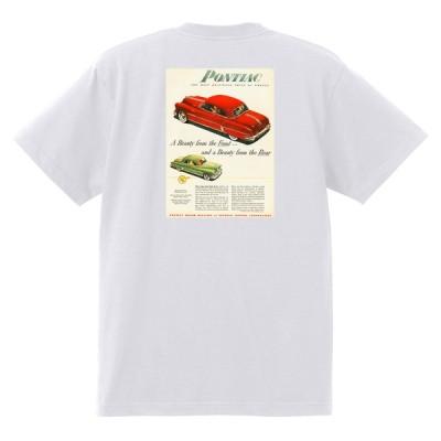 アドバタイジング ポンティアック 503 白 Tシャツ 黒地へ変更可能 1952 チーフテン スターチーフ ローレンシャン カタリナ ホットロッド