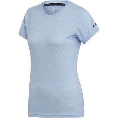 アディダス レディース Tシャツ トップス Adidas Women's Tivid Tee Glow Blue