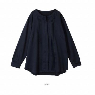 ストレッチサテンブラウス【LL―5L】(フルールバイミントブリーズ/fleur by mint breeze)