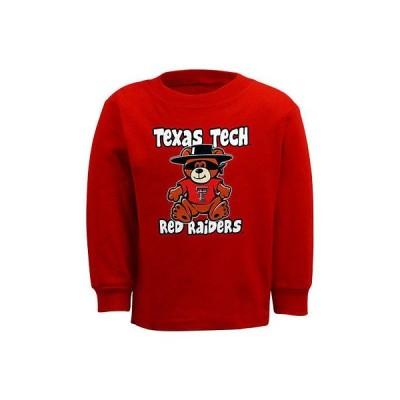カレッジ - NCAA Texas Tech レッド Raiders Toddler Stacker 長袖 Tシャツ - Scarlet