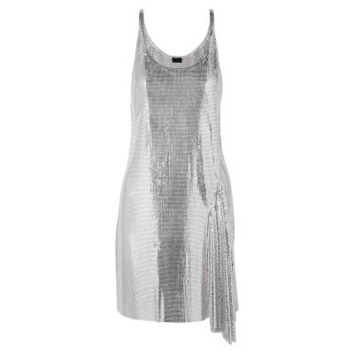 パコ ラバンヌ PACO RABANNE ミニワンピース&ドレス シルバー 34 アルミニウム 100% ミニワンピース&ドレス