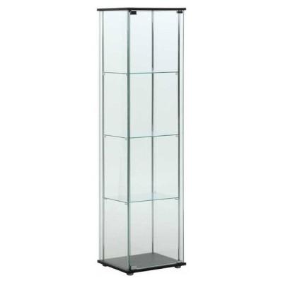 不二貿易 ガラスコレクションケース 4段 TMG-G21 96047 返品種別A