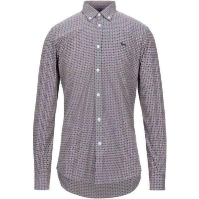 ハーモント アンド ブレイン HARMONT&BLAINE メンズ シャツ トップス patterned shirt Blue