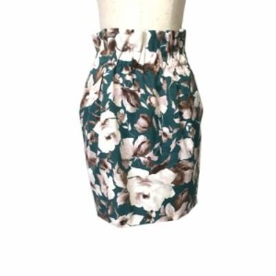 FRAY I.D フレイ アイディー フラワーパターンスカート (花柄 半袖 ドレス ) 120888 【中古】