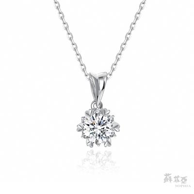 SOPHIA 蘇菲亞珠寶 - 費洛拉 0.50克拉 18K白金 鑽石項鍊