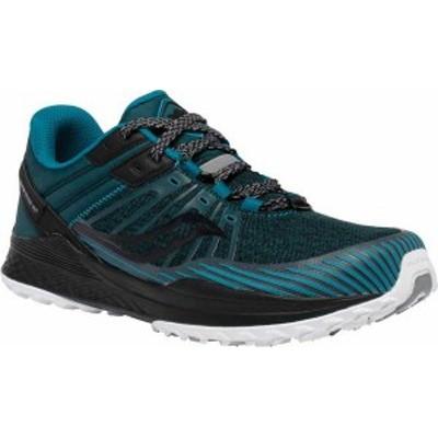 サッカニー メンズ スニーカー シューズ Mad River TR2 Trail Running Sneaker Teal/Black