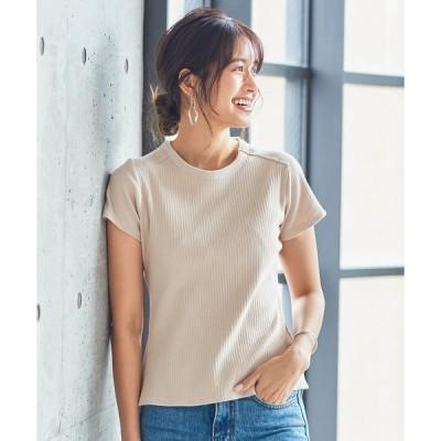 tシャツ Tシャツ コンパクトランダムリブ半袖Tシャツ