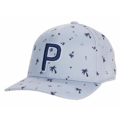 プーマ メンズ 帽子 アクセサリー Palms Pattern 110 P Snapback Cap Peacoat/Quarry