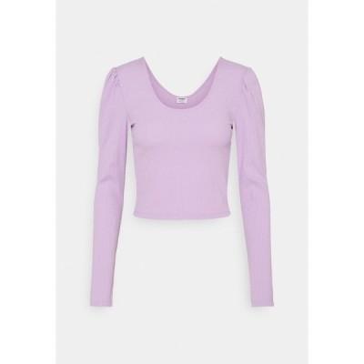 コットンオン カットソー レディース トップス PAMELA PUFF SLEEVE LONG SLEEVE  - Long sleeved top - frosty lilac