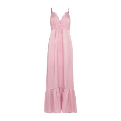 ピンク メモリーズ PINK MEMORIES ロングワンピース&ドレス ピンク 44 コットン 55% / シルク 45% ロングワンピース&ドレス