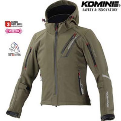 KOMINE JK-579 プロテクトソフトシェルウィンターパーカ IFU 『イフ』 ディープオリーブ 防寒 防風 着脱可能保温インナー付